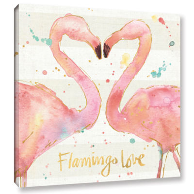 Brushstone Flamingo Fever II Gallery Wrapped Canvas Wall Art
