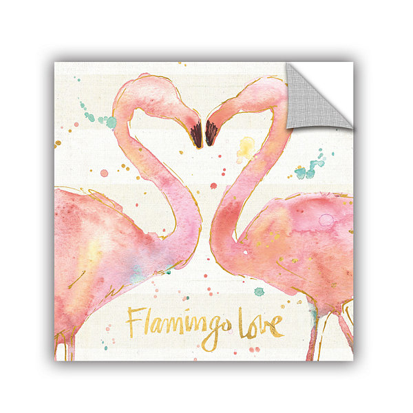 Brushstone Flamingo Fever II Removable Wall Decal