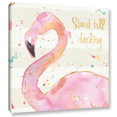 Brushstone Flamingo Fever III Gallery Wrapped Canvas Wall Art