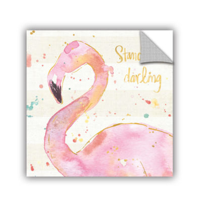 Brushstone Flamingo Fever III Removable Wall Decal