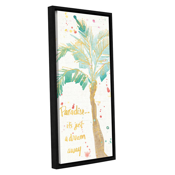 Brushstone Flamingo Fever IX Gallery Wrapped Floater-Framed Canvas Wall Art