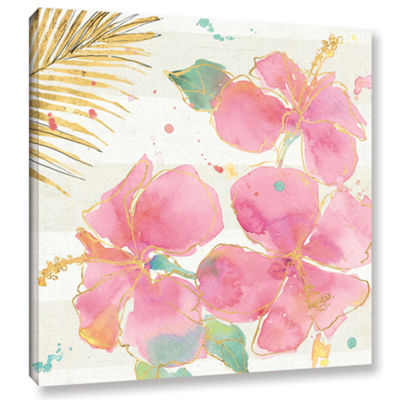 Brushstone Flamingo Fever VII Gallery Wrapped Canvas Wall Art