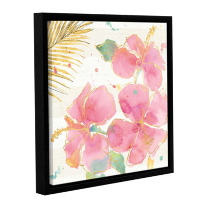 Brushstone Flamingo Fever VII Gallery Wrapped Floater-Framed Canvas Wall Art