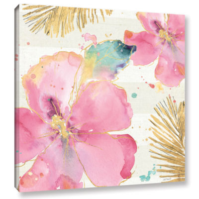 Brushstone Flamingo Fever VIII Gallery Wrapped Canvas Wall Art
