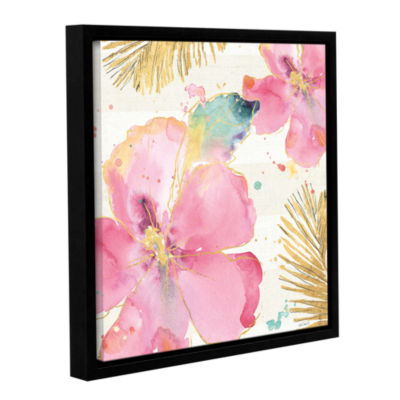 Brushstone Flamingo Fever VIII Gallery Wrapped Floater-Framed Canvas Wall Art