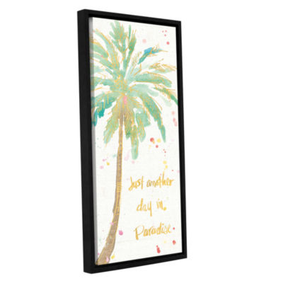 Brushstone Flamingo Fever X Gallery Wrapped Floater-Framed Canvas Wall Art