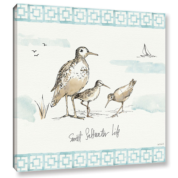 Brushstone Sandpiper Sea I Gallery Wrapped CanvasWall Art