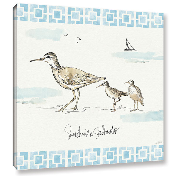 Brushstone Sandpiper Sea II Gallery Wrapped CanvasWall Art