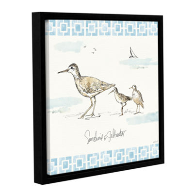 Brushstone Sandpiper Sea II Gallery Wrapped Floater-Framed Canvas Wall Art