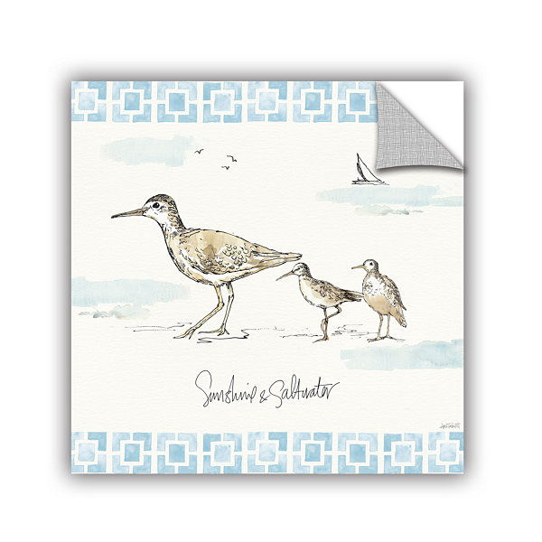 Brushstone Sandpiper Sea II Removable Wall Decal