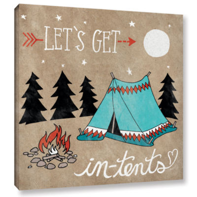Brushstone Adventure Love Tent Taupe Gallery Wrapped Canvas Wall Art