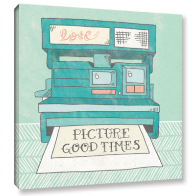 Brushstone Retro Polaroid Gallery Wrapped Canvas Wall Art