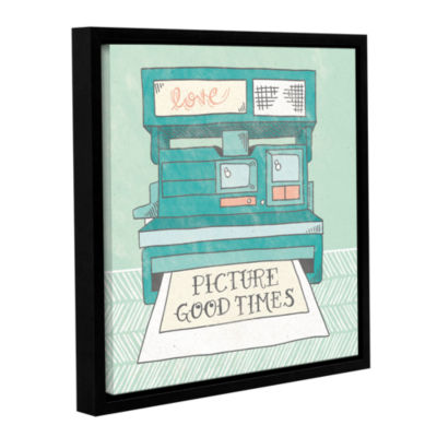 Brushstone Retro Polaroid Gallery Wrapped Floater-Framed Canvas Wall Art