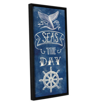 Brushstone Seas The Day Gallery Wrapped Floater-Framed Canvas Wall Art