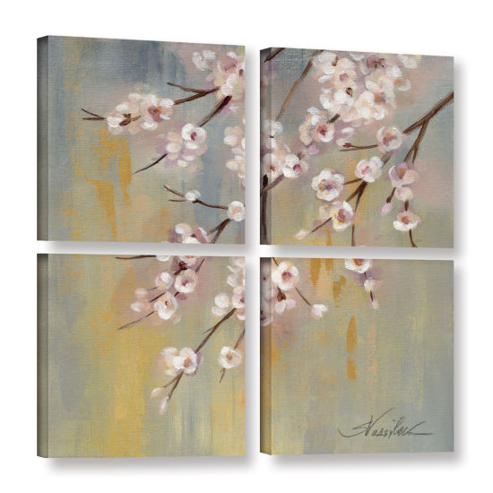 Brushstone Cherry Cloud I 4-pc. Square Gallery Wrapped Canvas Wall Art