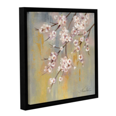 Brushstone Cherry Cloud I Gallery Wrapped Floater-Framed Canvas Wall Art