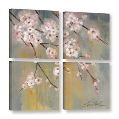 Brushstone Cherry Cloud II 4-pc. Square Gallery Wrapped Canvas Wall Art