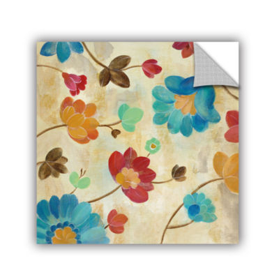 Brushstone Coral and Teal Garden II Removable WallDecal