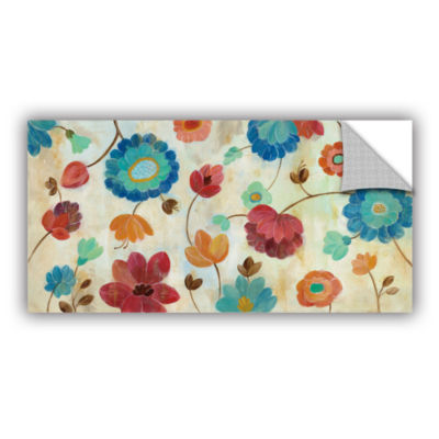 Brushstone Coral and Teal Garden III Removable Wall Decal