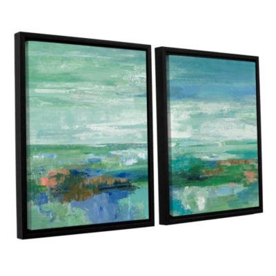 Brushstone Emerald Bay 2-pc. Floater Framed CanvasWall Art