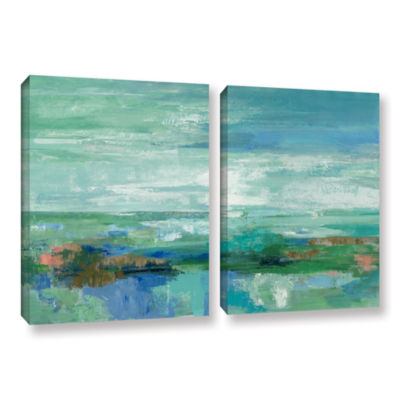 Brushstone Emerald Bay 2-pc. Gallery Wrapped Canvas Wall Art