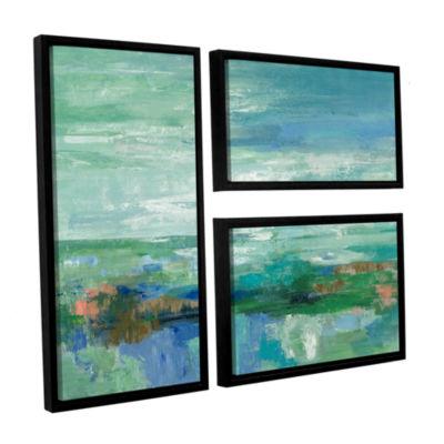 Brushstone Emerald Bay 3-pc. Flag Floater Framed Canvas Wall Art