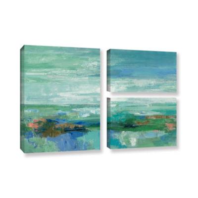 Brushstone Emerald Bay 3-pc. Flag Gallery WrappedCanvas Wall Art