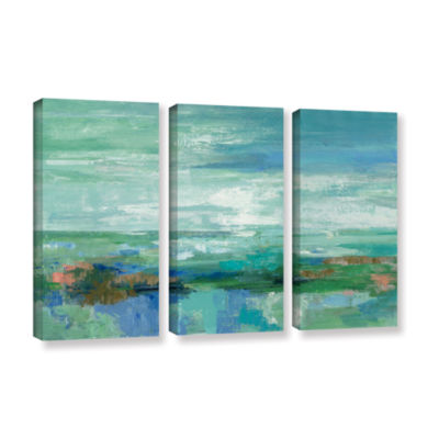 Brushstone Emerald Bay 3-pc. Gallery Wrapped Canvas Wall Art