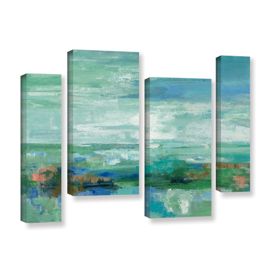 Brushstone Emerald Bay 4-pc. Gallery Wrapped Staggered Canvas Wall Art