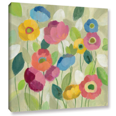 Brushstone Fairy Tale Flowers I Gallery Wrapped Canvas Wall Art