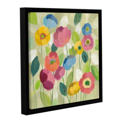 Brushstone Fairy Tale Flowers I Gallery Wrapped Floater-Framed Canvas Wall Art