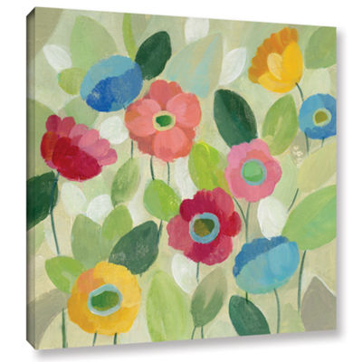 Brushstone Fairy Tale Flowers IV Gallery Wrapped Canvas Wall Art