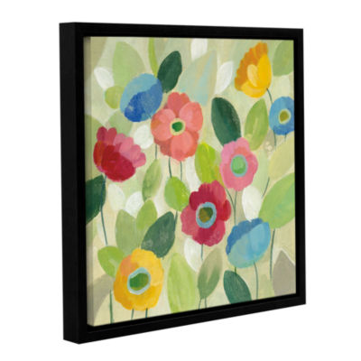 Brushstone Fairy Tale Flowers IV Gallery Wrapped Floater-Framed Canvas Wall Art