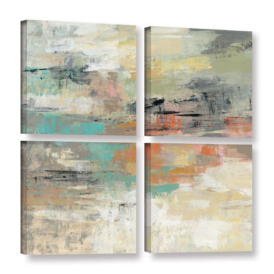 Brushstone Gentle Gaze 4-pc. Square Gallery Wrapped Canvas Wall Art