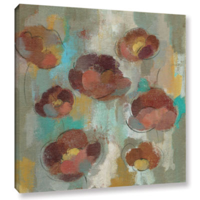 Brushstone Marsala Blossoms II Gallery Wrapped Canvas Wall Art