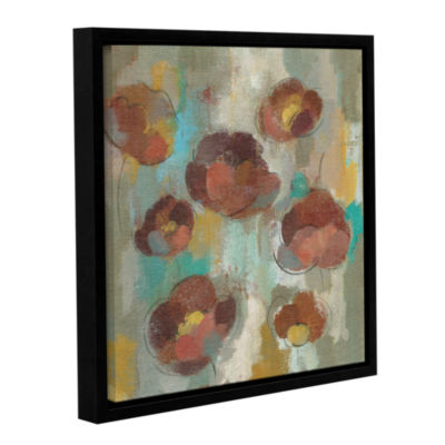 Brushstone Marsala Blossoms II Gallery Wrapped Floater-Framed Canvas Wall Art