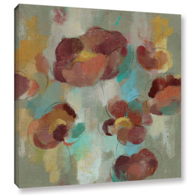 Brushstone Marsala Blossoms III Gallery Wrapped Canvas Wall Art