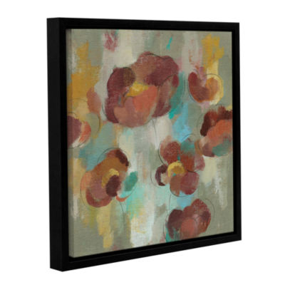 Brushstone Marsala Blossoms III Gallery Wrapped Floater-Framed Canvas Wall Art