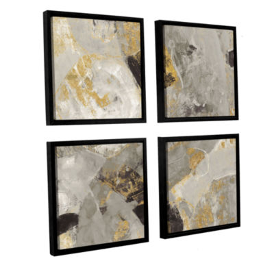 Brushstone Painted Desert Neutral 4-pc. Square Floater Framed Canvas Wall Art