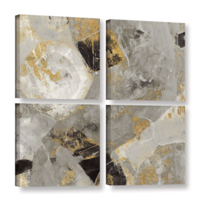 Brushstone Painted Desert Neutral 4-pc. Square Gallery Wrapped Canvas Wall Art
