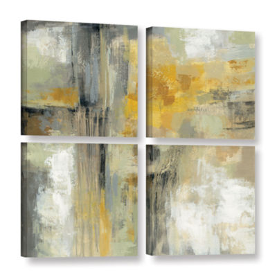 Brushstone Sun and Rain 4-pc. Square Gallery Wrapped Canvas Wall Art