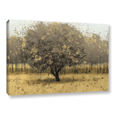 Brushstone Golden Trees I Gallery Wrapped Canvas Wall Art