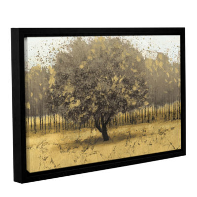 Brushstone Golden Trees I Gallery Wrapped Floater-Framed Canvas Wall Art