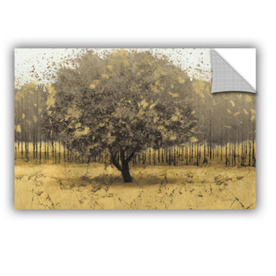 Brushstone Golden Trees I Removable Wall Decal