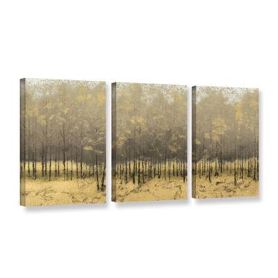 Brushstone Golden Trees III 3-pc. Gallery WrappedCanvas Wall Art