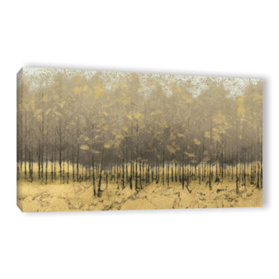 Brushstone Golden Trees III Gallery Wrapped CanvasWall Art