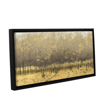 Brushstone Golden Trees III Gallery Wrapped Floater-Framed Canvas Wall Art