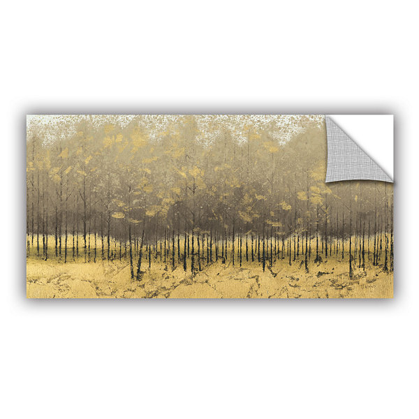 Brushstone Golden Trees III Removable Wall Decal