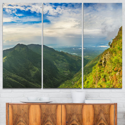 Designart Horton Plains World S End Landscape Photography Canvas Print - 3 Panels