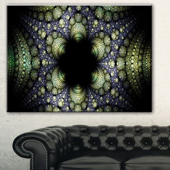 Designart Into The Center Of Fraction Abstract Canvas Art Print